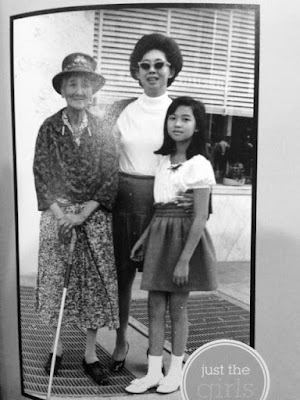 Great grandma Wong, my mother Nancy Wong Chin-Lee, and the author