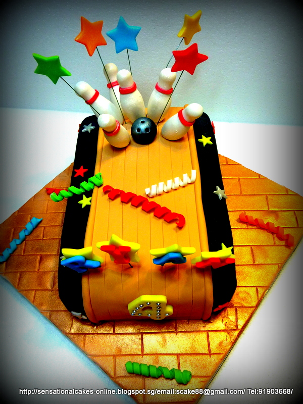 The Sensational Cakes 3d Bowling Cake Singapore Birthday