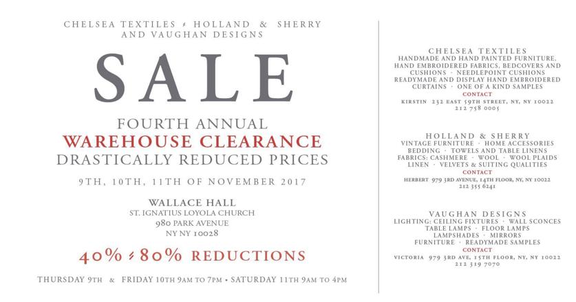K Hall Designs Warehouse Sale
