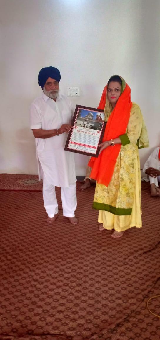 Dr Harleen Kaur Principal Mount Carmel International school naraingarh at Toka Sahib gurudwara