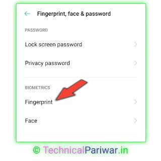 Add fingerprint in whatsapp