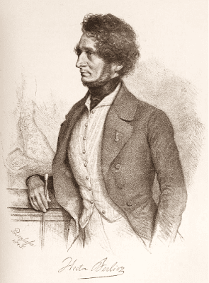 Berlioz by August Prinzhofer, 1845