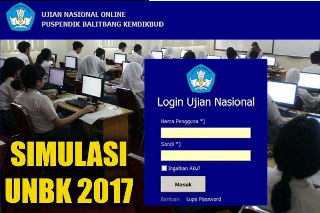 Cara Belajar Simulasi UNBK 2017