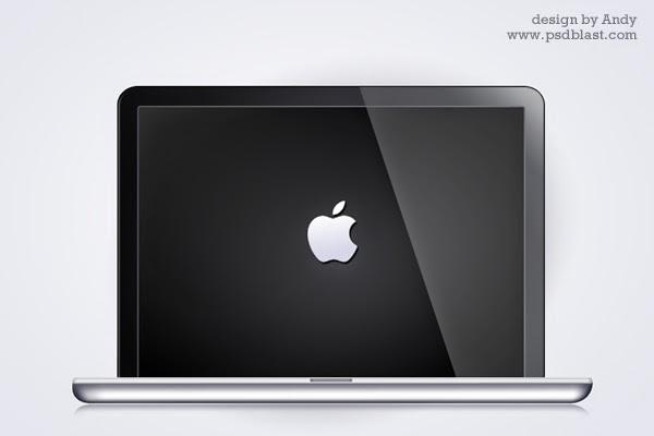 Glossy Macbook PSD