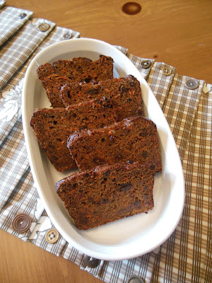 Carrot Raisin Banana Bread, whole grain and no refined sugars.