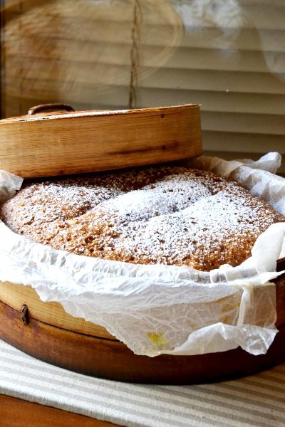 torta alcocco cotta cestello bambù vapore