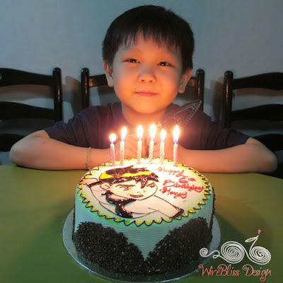 Henry with his 6th birthday cake