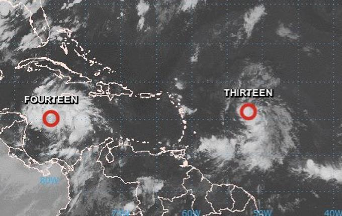 Depresión tropical Trece puede llegar a ser la tormenta Laura hoy; pasaría por RD el domingo