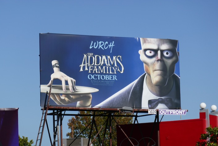 Addams Family Lurch billboard