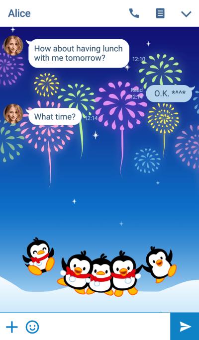 Little Penguin Gigi-Fireworks