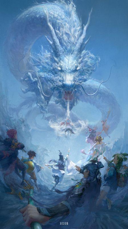 Xision Wu artstation arte ilustrações fantasia ficção oriental chinesa dragões