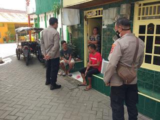 Tingkatkan Sambang, Satbinmas Polres Pelabuhan Makassar Ajak Warga Jaga Kamtibmas dan Patuhi Prokes