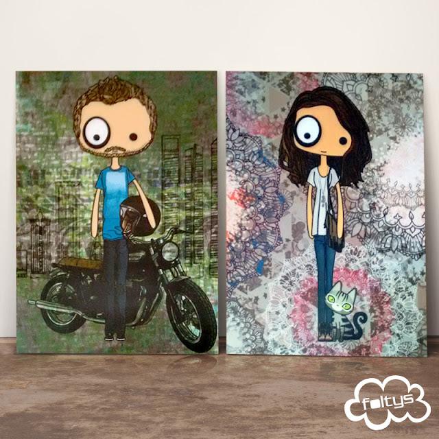 laminas personalizadas | custom prints | foltys vs jaime, carmen & leo | handmade with <3