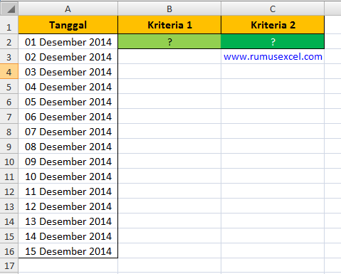 Conditional Formatting 2 kriteria dengan Excel