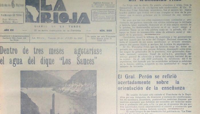 DIARIO LA RIOJA 18 DE JULIO DE 1947