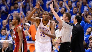 BALONCESTO (Finales NBA 2012) - Game 1: Kevin Durant fue un gigante para Miami