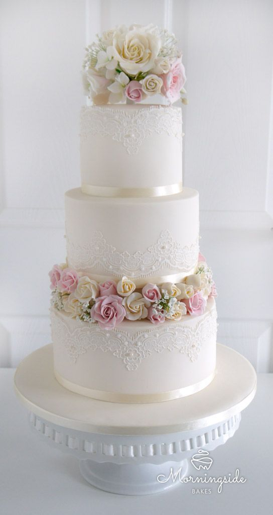 Cake Decoration J D O O : 30 Awesome Wedding Cake Designs with Roses Decoration ...