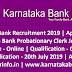 Karnataka Bank Recruitment 2019 Apply Online Probationary Clerk Post