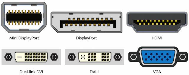 Diferentes tipos de conectores