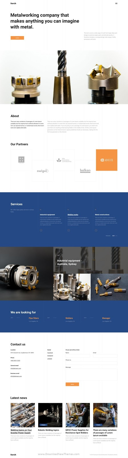 Factory & Industrial Business Template