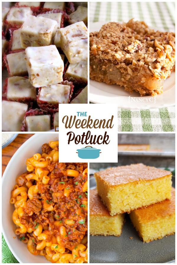 A virtual recipe swap with Butter Pecan Fudge, Caramel Apple Oat Squares, Homemade Beefaroni, Better-Than-Homemade Cornbread and dozens more!