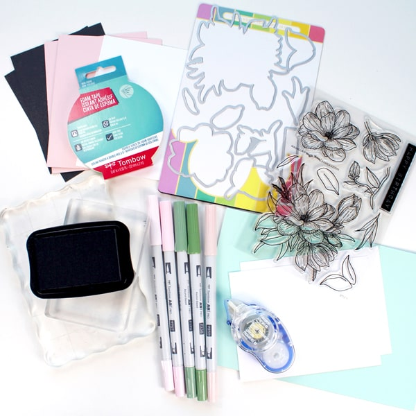Supplies needed for handmade card perfect for all occasions.