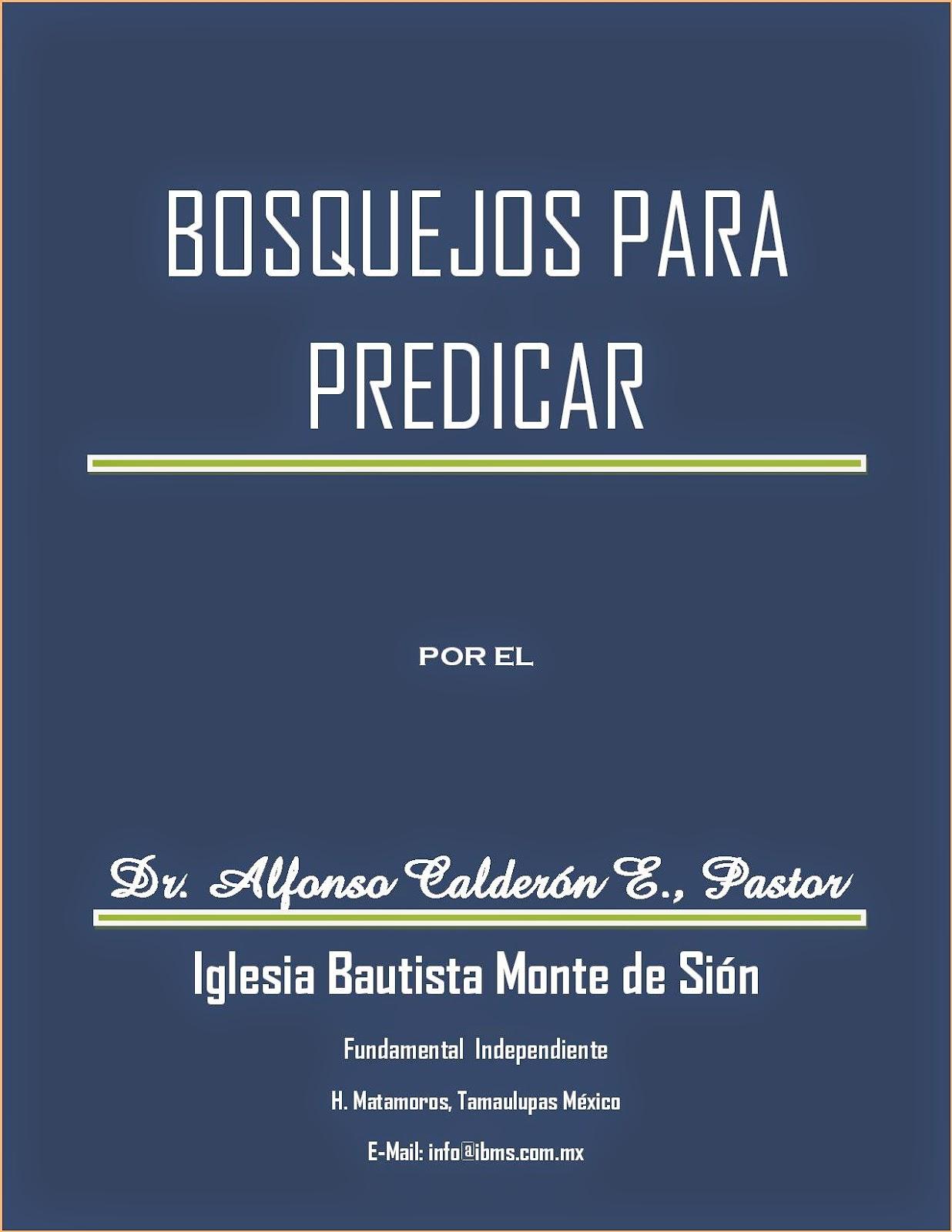 Alfonso Calderón-Bosquejos Para Predicar-