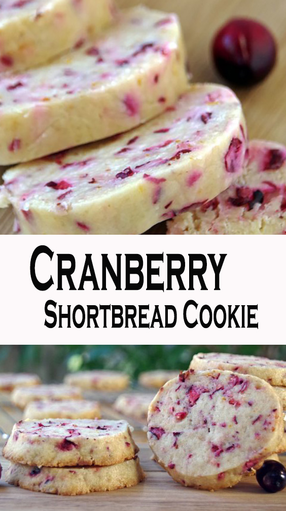 Cranberry Shortbread Cookie