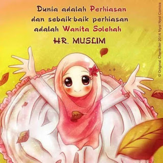 kartun gambar muslimah lucu