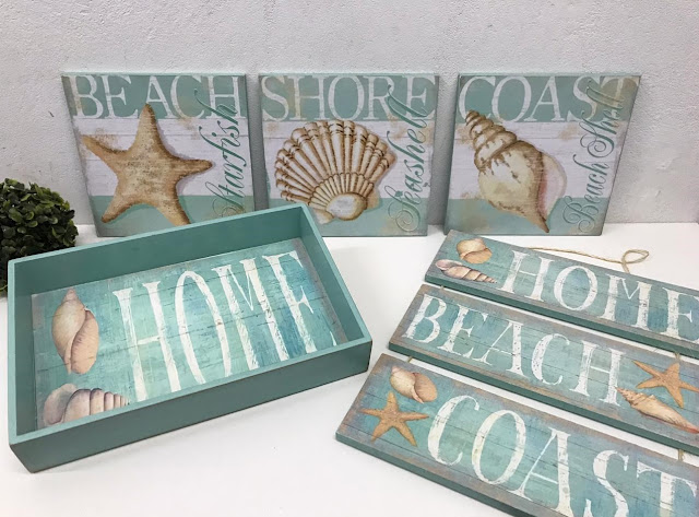 Conjunto Decorativo Praia Beach House Nautico