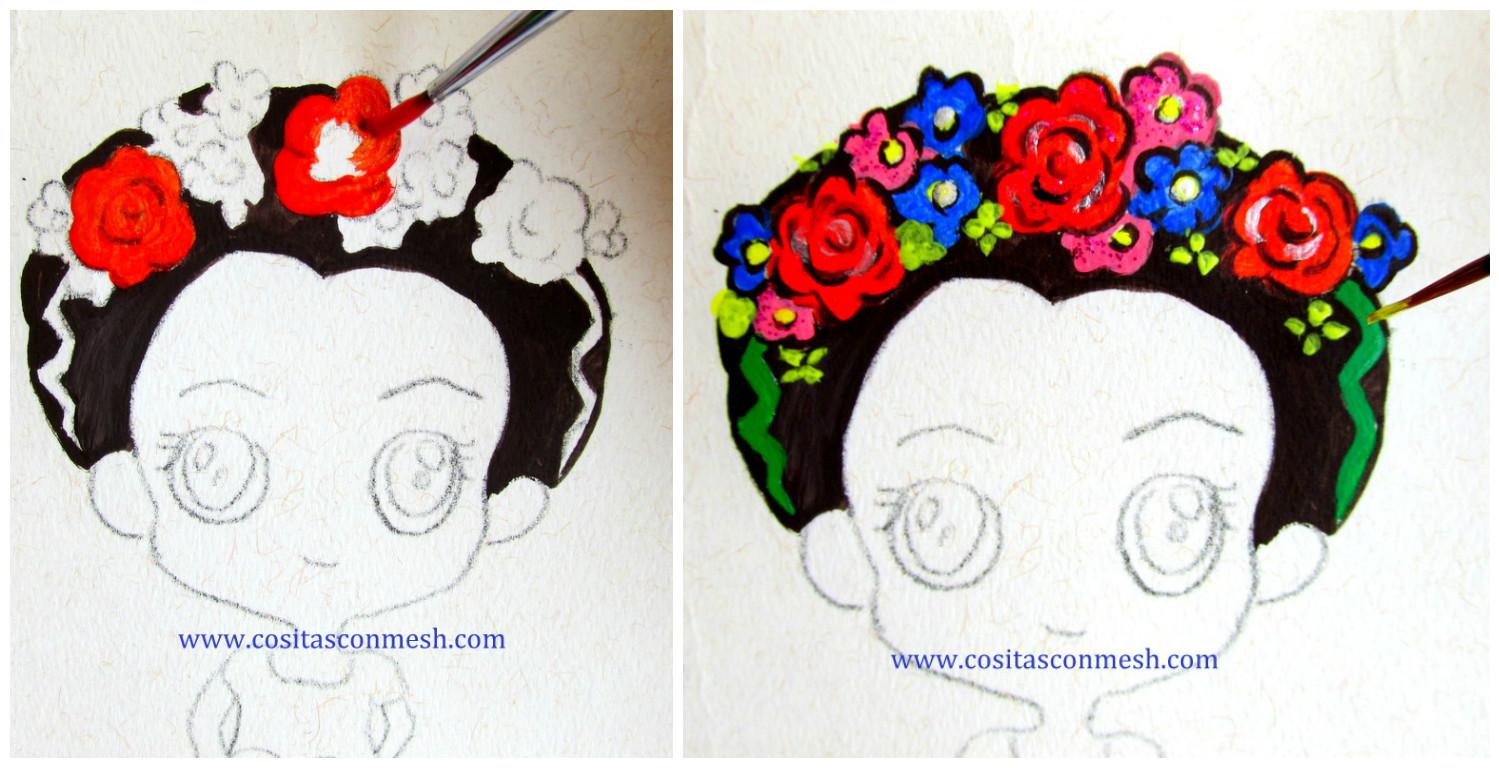 Frida Kahlo Dibujo Animado Para Colorear: Aprende Cómo Hacer Llaveros De Frida Kahlo En Cartulina
