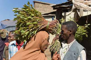 At the Chat market in Ethiopia