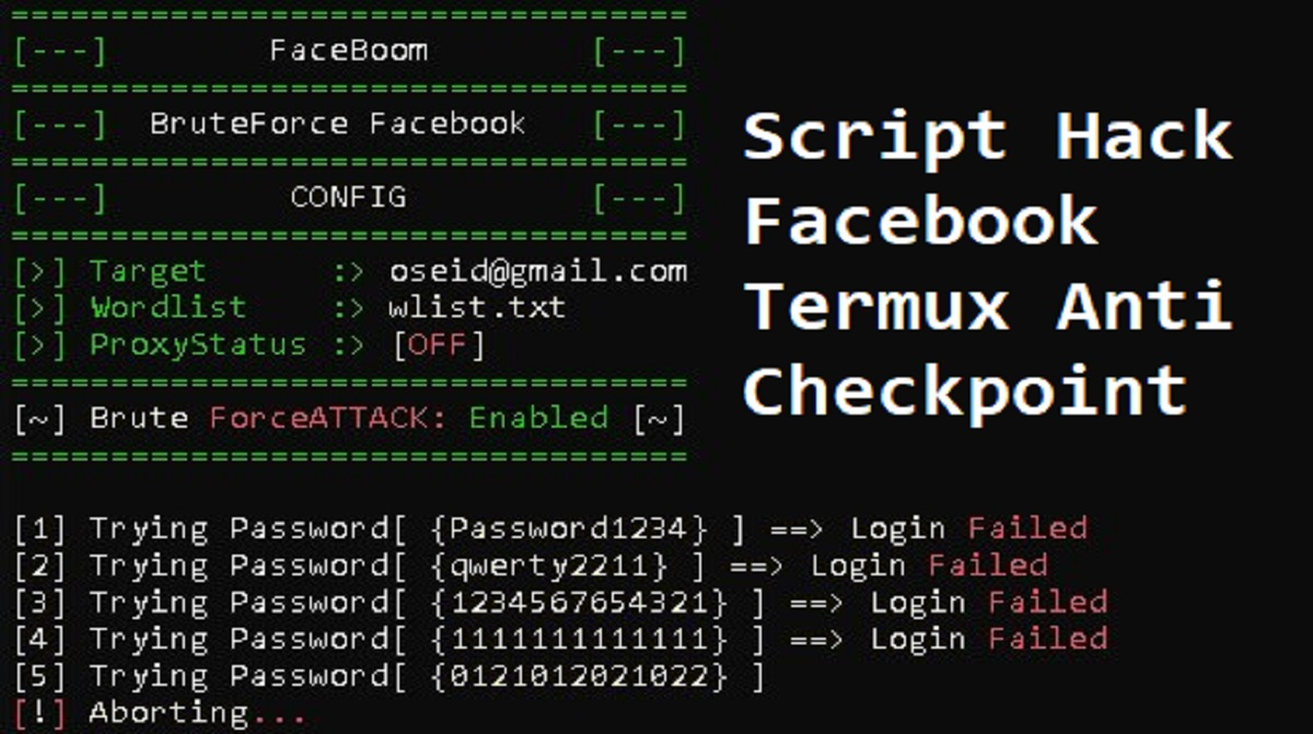 Script Hack Facebook Termux Anti Checkpoint