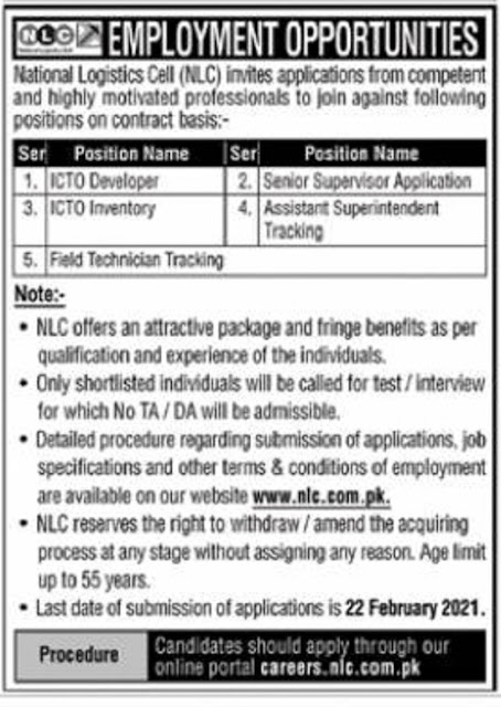 national-logistics-cell-nlc-jobs-2021-latest-apply-online-careers-nlc-com-pk