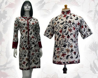 model baju terusan polos model baju terusan kombinasi batik