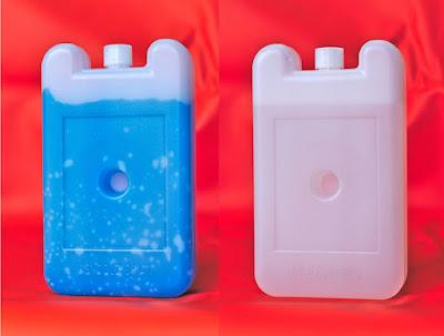 ice packs 400 mL agua gel para cajas conservadoras vacunas fondo anaranjado