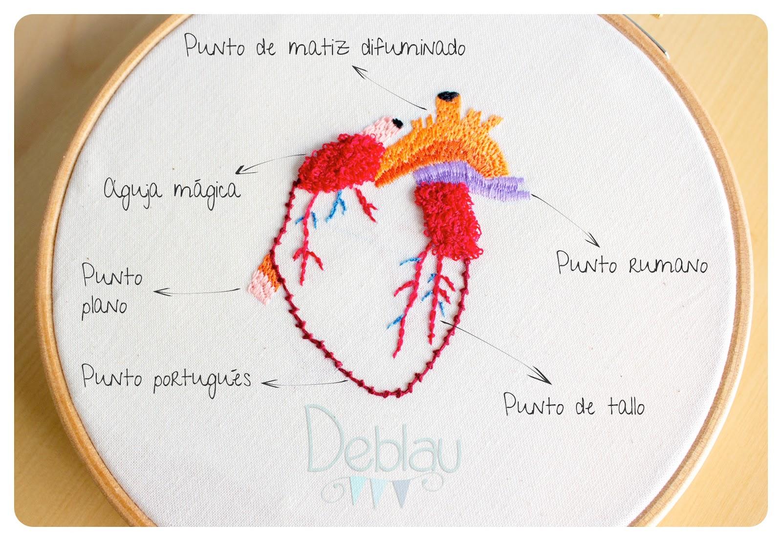 Deblau: Bordando un corazón y el Manual Práctico del Bordado