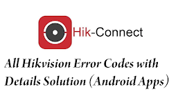 Hikvision Error Codes with Details (Android Apps)