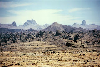 The Tibesti are a mountain range in the central Sahara desert, mainly located in northern Chad and a small portion in southern Libya.