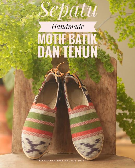 Sepatu D'Arcadia Treasure Handmade Asli Produk Indonesia Berbalut Bahan Dengan Motif Batik Yang Cantik