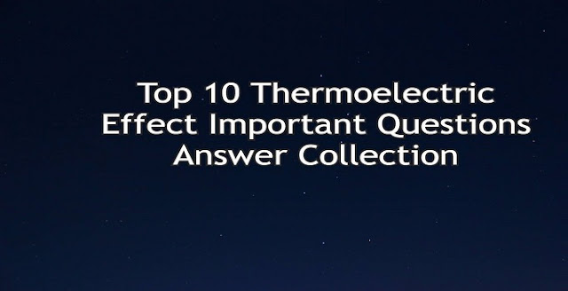 Thermoelectric effect