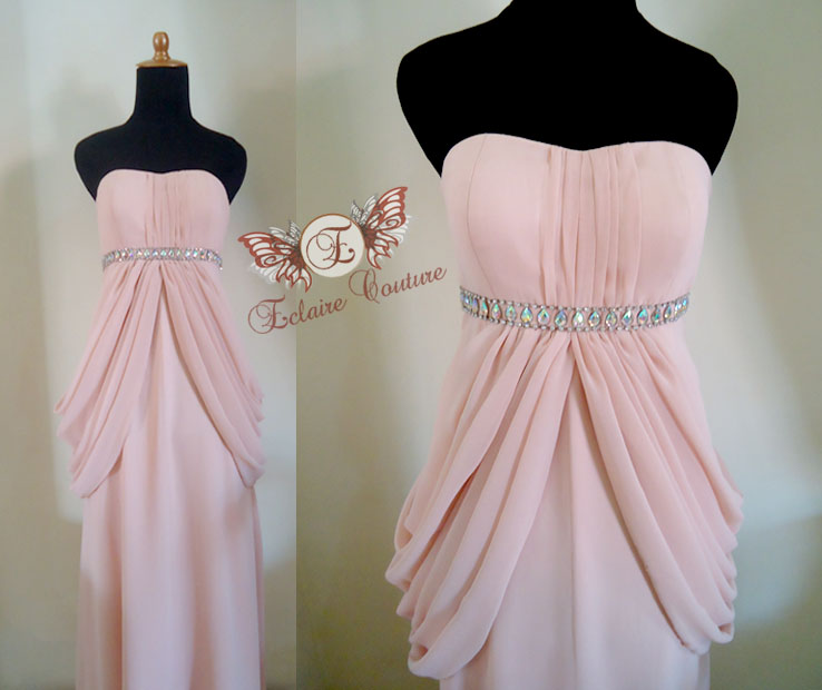 Wedding Gown Surabaya: Eclaire Couture: Peah Drapery Imperial Dress (for Rent