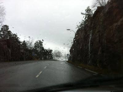 Bilvägen i Henriksdalsbacken på Henriksdalsberget