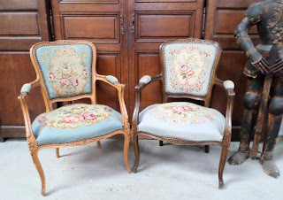 Wholesale French Antiques Louis XV  Bergere Chairs