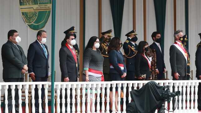 El presidente Francisco Sagasti presidió la ceremonia que se celebró en la Escuela de Oficiales de la PNP