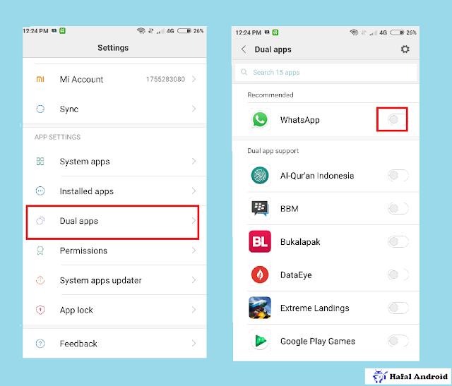 Cara Aplikasi Ganda WhatsApp di HP Xiaomi