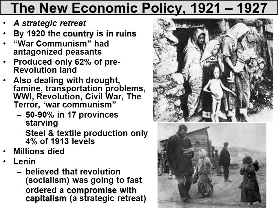 war communism and the nep The journol q/libert(~rimsludier vol v, no1 (winter 1981) war communism to nep: the road from serfdom by sheldon l richm.