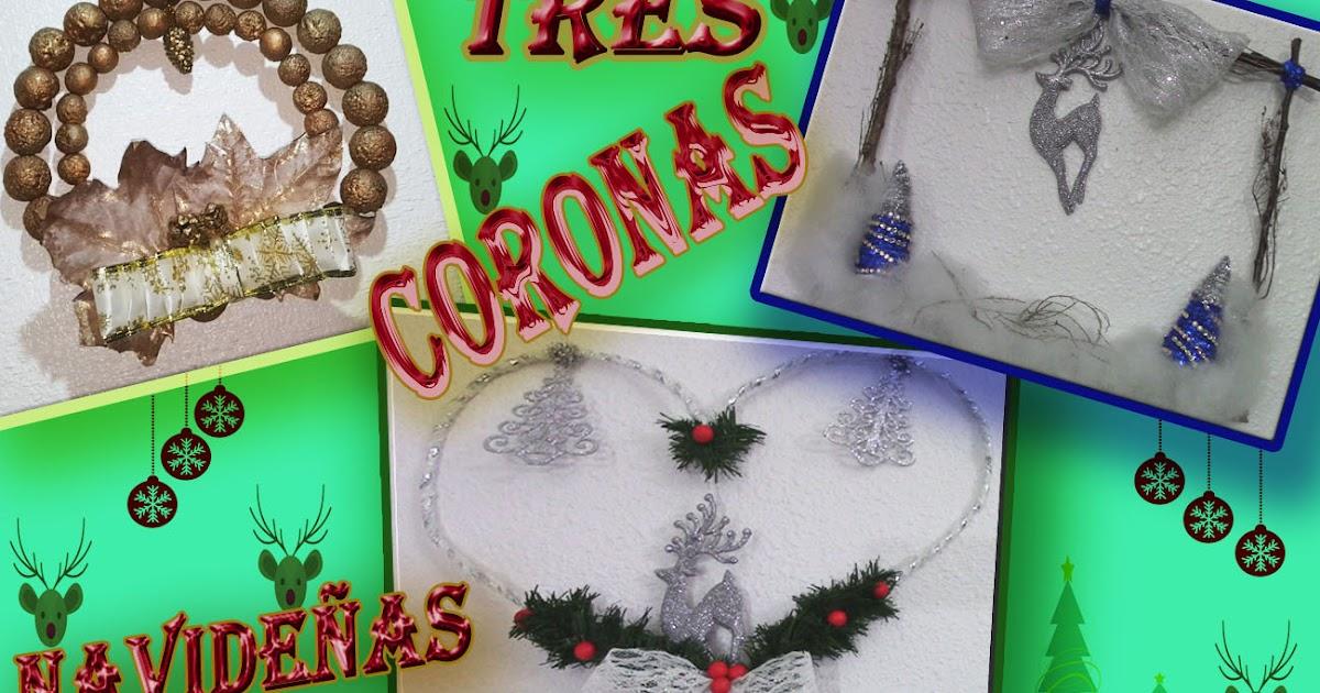 Decoraci n navide a 3 coronas navide as paso a paso diy - Decoracion navidena diy ...