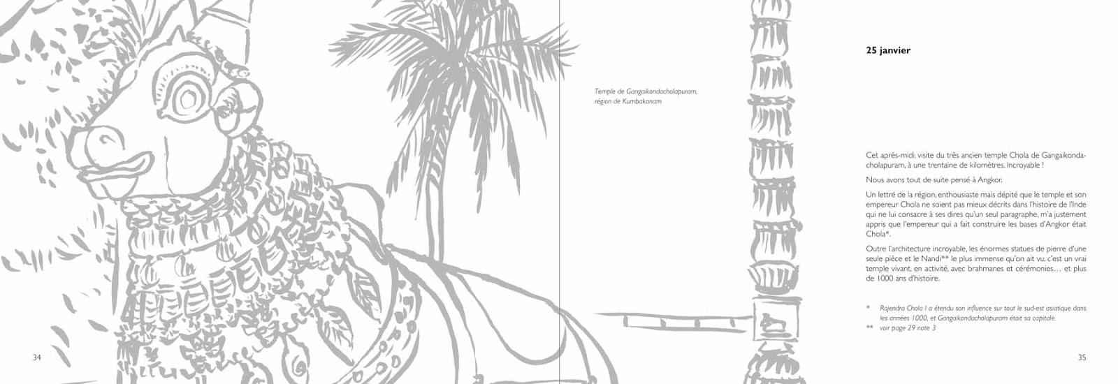 Carnet de voyage en Inde - Annik Reymond Michel Lizot 34-35