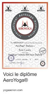 diplôme yoga aérien